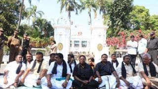 Puducherry CM Spends Night Outside L-G Kiran Bedi's Residence in Protest Over Her 'Autocratic Rule'