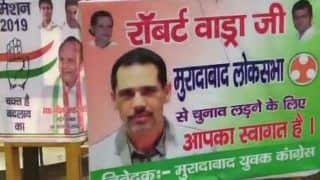 Lok Sabha Elections 2019: Posters Urging Robert Vadra to Join Politics, Contest Polls Surface in Moradabad