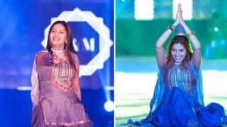 Haryanvi Sensation Sapna Choudhary Looks Sizzling Hot as She Flaunts Her Sexy Thumkas During Stage Show in Bhopal