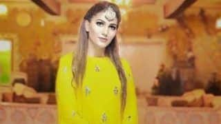 Haryanvi Hot Dancer Sapna Choudhary Looks Her Sexiest Best in Yellow Ethnic Gown And Maang Tikka in Her Latest Pictures