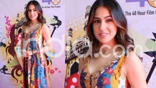 Sara Ali Khan Looks to-Die-For in Colourful Indo-Western Outfit, See Pictures