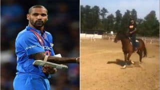 India vs Australia 1st T20I: Shikhar Dhawan Learns Horse Riding Ahead Of Limited-Overs Series Against Aaron Finch-Led Australia | SEE VIDEO