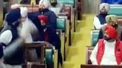 Sidhu's 'Pro-Pak' Remark Rocks Punjab Assembly, MLAs Burn His Photo Hugging Pak Army Chief