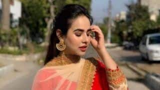 Punjabi Hottie Sunanda Sharma Sets Internet on Fire With Latest Post Showing her Dressed in Red
