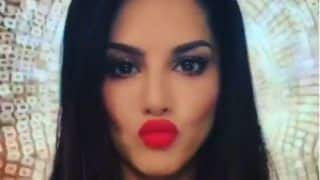 Sunny Leone Looks Super Hot in Short Nude Dress And Red Lips as She Blows Kisses to Her Fans in Her Latest Boomerang Video
