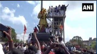 Tamil Nadu: Protest Erupts in Front of Pasumpon Muthuramalinga Thevar's Statue Over Demand of Renaming Madurai Airport After Him