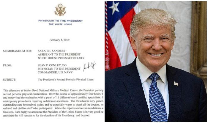 व्हाइट हाउस ने कहा- स्वास्थ्य जांच में एकदम फिट पाए गए अमेरिकी राष्ट्रपति ट्रंप