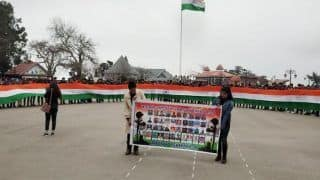 Pulwama Terror Attack: ABVP-led Students Take Out Tiranga Yatra With 150-ft Long National Flag in Shimla