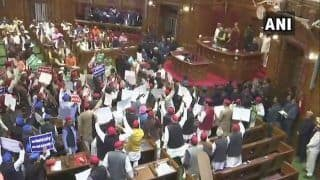 Opposition Creates Ruckus in UP Assembly, Hurls Paper Balls Towards Podium During Governor's Speech