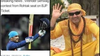 Virender Sehwag Rubbishes Rumours of Contesting in Upcoming 2019 Lok Sabha Elections | See Post