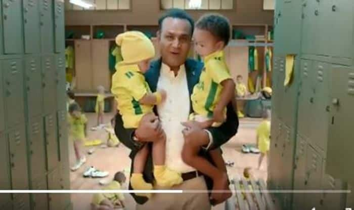 India vs Australia 2019: After Rishabh Pant, Virender Sehwag Turns Babysitter in Hilarious Promotional Ad | WATCH VIDEO