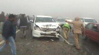 कोहरे के कारण 40 से अधिक वाहन सीकर-जयपुर हाईवे पर भिड़े, 18 लोग घायल