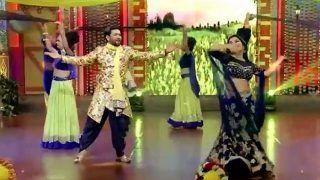 Amrapali Dubey And Dinesh Lal Yadav Show Desi Thumke on Stage While Celebrating Basant Panchami-Watch Video