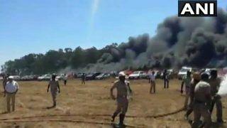 VIDEO: एयरो इंडियो के पार्किंग क्षेत्र में 'सिगरेट' बनी आग की वजह, ऐसे खाक हो गईं 300 कारें