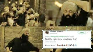 Twitterati Slam Akshay Kumar's Kesari Makers For Releasing Sanu Kehndi Song During Indo-Pak Tensions, Read Tweets