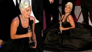 Lady Gaga Wells up as She Bags Her First Oscar Award For Shallow From A Star Is Born