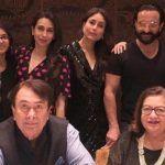 Kareena, Karisma Kapoor And Saif Ali Khan Celebrate Randhir Kapoor's Birthday