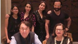 Kareena, Karisma Kapoor And Saif Ali Khan Celebrate Randhir Kapoor's Birthday