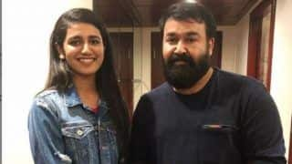 Internet's Wink Queen Priya Prakash Varrier Beams With Happiness as She Poses With South Superstar Mohanlal