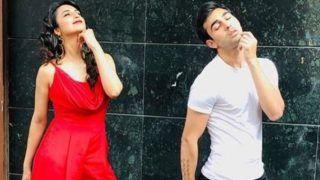 Yeh Hai Mohabbatein Star Divyanka Tripathi Dahiya Takes Posing Tips From Co-Star Abhishek Verma, See Pics