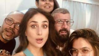 Kareena Kapoor Khan Gives a Perfect Selfie Expression as She Poses With Her Staff Members in The Middle of Shoot, See Picture
