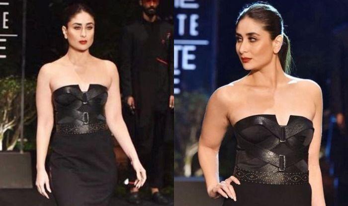 Lakme Fashion Week 2019: Kareena Kapoor Khan Looks Hot as She Walks The Ramp in an Off-Shoulder Black Dress