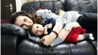 Sania Mirza-Son Izhaan Look Adorable Bundle of Joy as They Lazily Cuddle on Couch This Sunday Eve