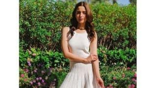 Alia Bhatt Looks Comfy Yet Fancy in White Michael Kors Dress And Yellow Melissa Shoes, See Pictures