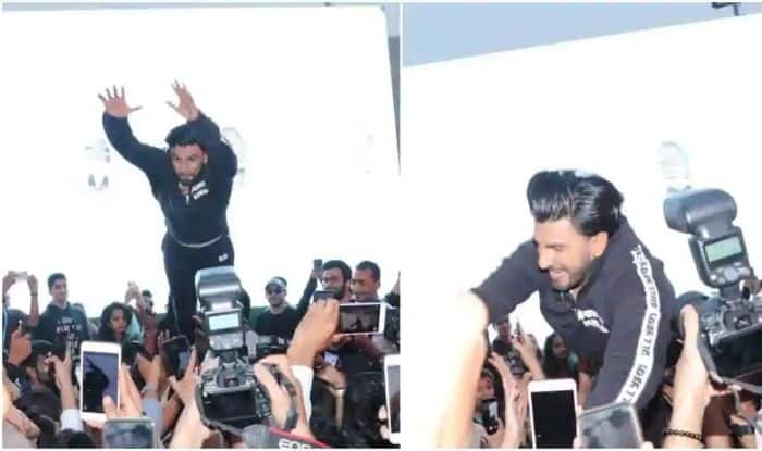 Ranveer Singh's impromptu dive