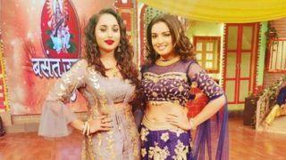 Bhojpuri Hotties Amrapali Dubey And Rani Chatterjee Share Frame as They Celebrate Basant Utsav