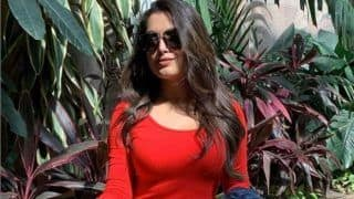 Amrapali Dubey's Latest Sunkissed Picture in Hot Red Outfit is a Sight to Behold