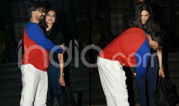 Ranveer Singh Fixes up Deepika Padukone's Pants, Kisses Her Forehead in Latest Pictures
