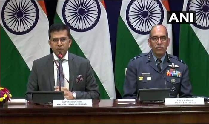 MEA Spokesperson Raveesh Kumar Briefs Media, Says One Pakistan Air Force Fighter Aircraft Shot Down by IAF, One Indian Pilot Missing in Action