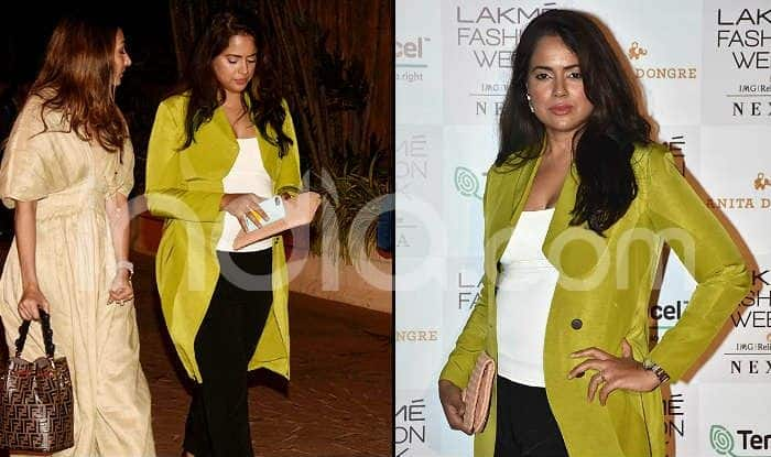Sameera Reddy Pregnant With Second Child, Looks Radiant Flaunting Baby Bump at Lakme Fashion Week 2019