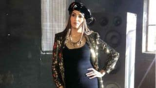 Haryanvi Hot Dancer Sapna Choudhary Sensuously Poses in a Sexy Black Shimmery Dress, See Pics