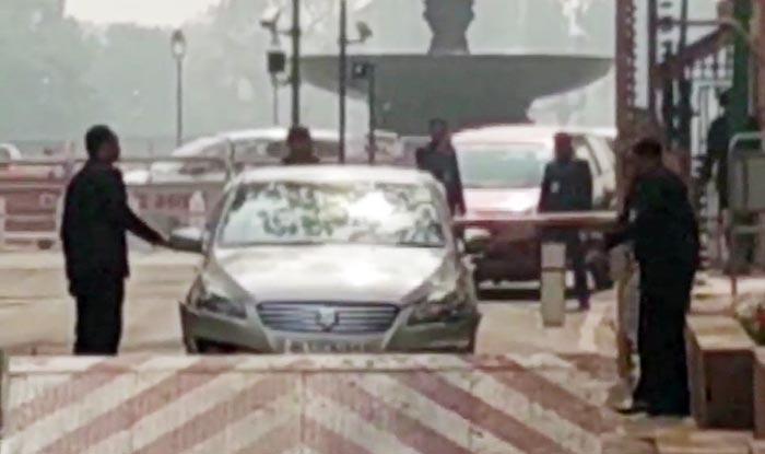 Delhi: Congress MP's Car Rams Into Barricade on Parliament Premises, Security on High Alert