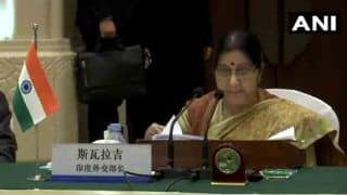 In China, Sushma Swaraj Defends IAF Strike, Says India Took Pre-emptive Action as Pakistan Refused to Act