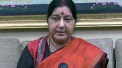 Sushma Swaraj to Visit Kyrgyzstan on Tuesday For Meet