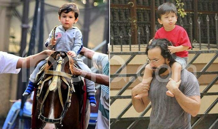 Taimur Ali Khan's Sundays Are For Horse Riding And Enjoying Piggyback Ride on Daddy Saif's Shoulders