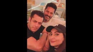 Sonakshi Sinha Shares an Adorable Selfie With Her Dabangg Co-Star Salman Khan And Prabhu Deva, See Picture