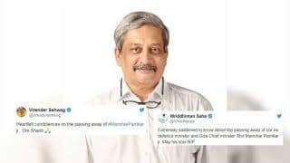 Virender Sehwag, Wriddhiman Saha, VVS Laxman And Other Sportsmen Offer Condolences on Goa Chief Minister Manohar Parrikar's Death | SEE POSTS