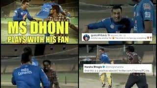 MS Dhoni Plays Catch me if You Can With Fan During CSK Camp Ahead of IPL 2019; Sends Harsha Bhogle, Twitter Into Frenzy | SEE POSTS