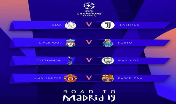 Uefa Champions League 2019 Quarter Finals Semi Final Draw Fixtures