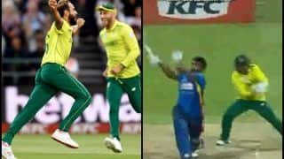 South Africa vs Sri Lanka 1st T20I: Imran Tahir's Super Over Magic Helps Proteas Beat Sri Lanka in Newlands | WATCH VIDEO