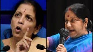 With Sharp Jibes And Strong Poll Pitch, Nirmala Sitharaman, Sushma Swaraj Take Congress Head-on