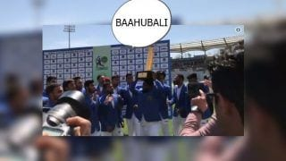 Afghanistan's Mohammed Shahzad Lifts Trophy After Historic Maiden Win Over Ireland, Teammates Call Him 'Bahubali' | WATCH VIDEO