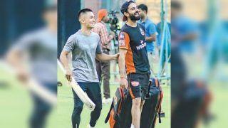 Virat Kohli Thanks Sunil Chhetri For Visiting RCB Camp in Bengaluru Ahead of IPL 2019 | SEE POST