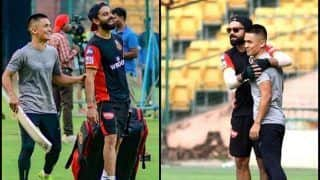 Virat Kohli Introduces Sunil Chhetri to RCB Players at MA Chinnaswamy Ahead of IPL 2019