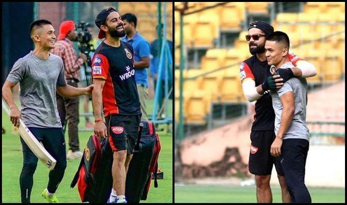 Virat Kohli Introduces Sunil Chhetri to RCB Players at MA Chinnaswamy Ahead of IPL 2019