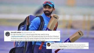 Ajinkya Rahane Should be Brought Back in Virat Kohli-Led Team India For 2019 World Cup, Reckon Fans After Australia Beat India 3-2 | SEE POSTS